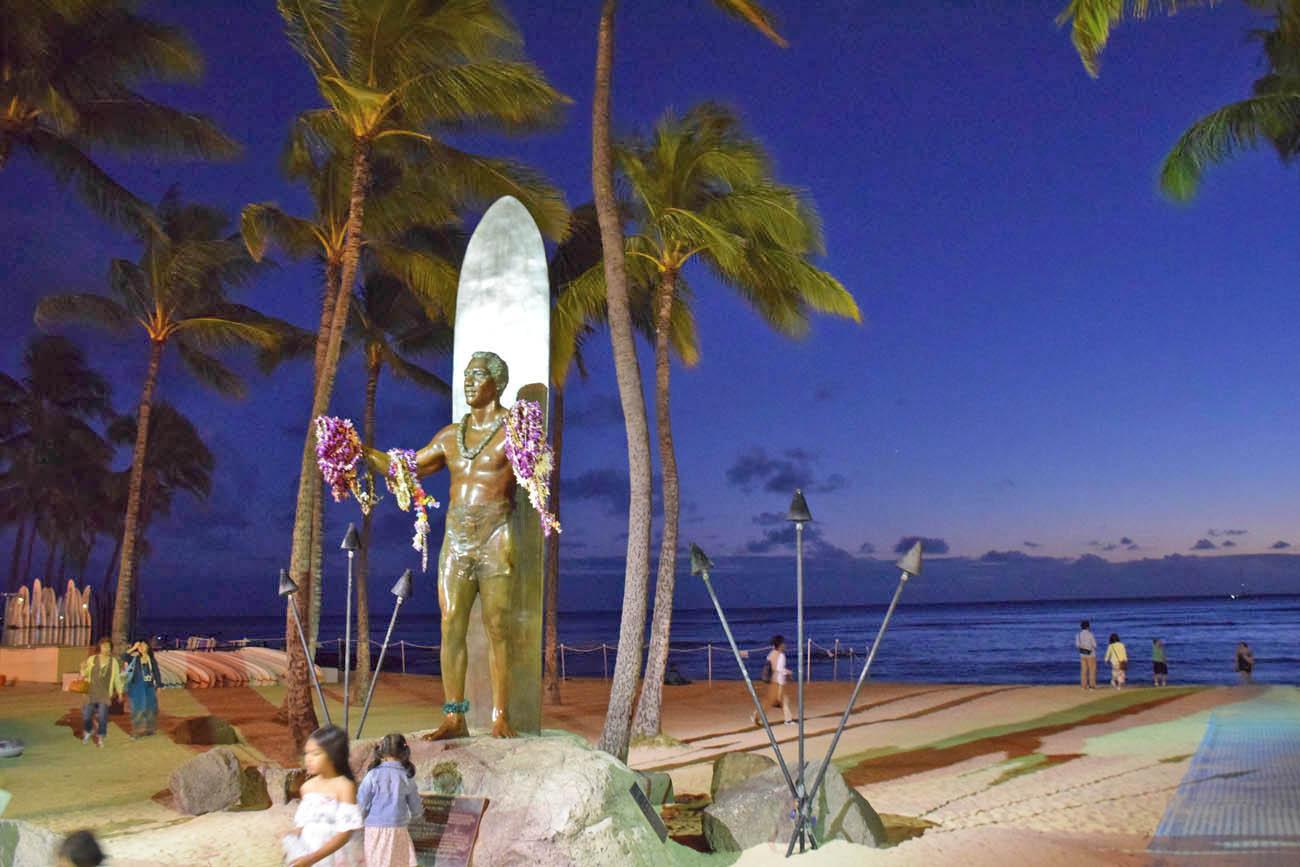 Estátua Duke Paoa - Waikiki - Oahu
