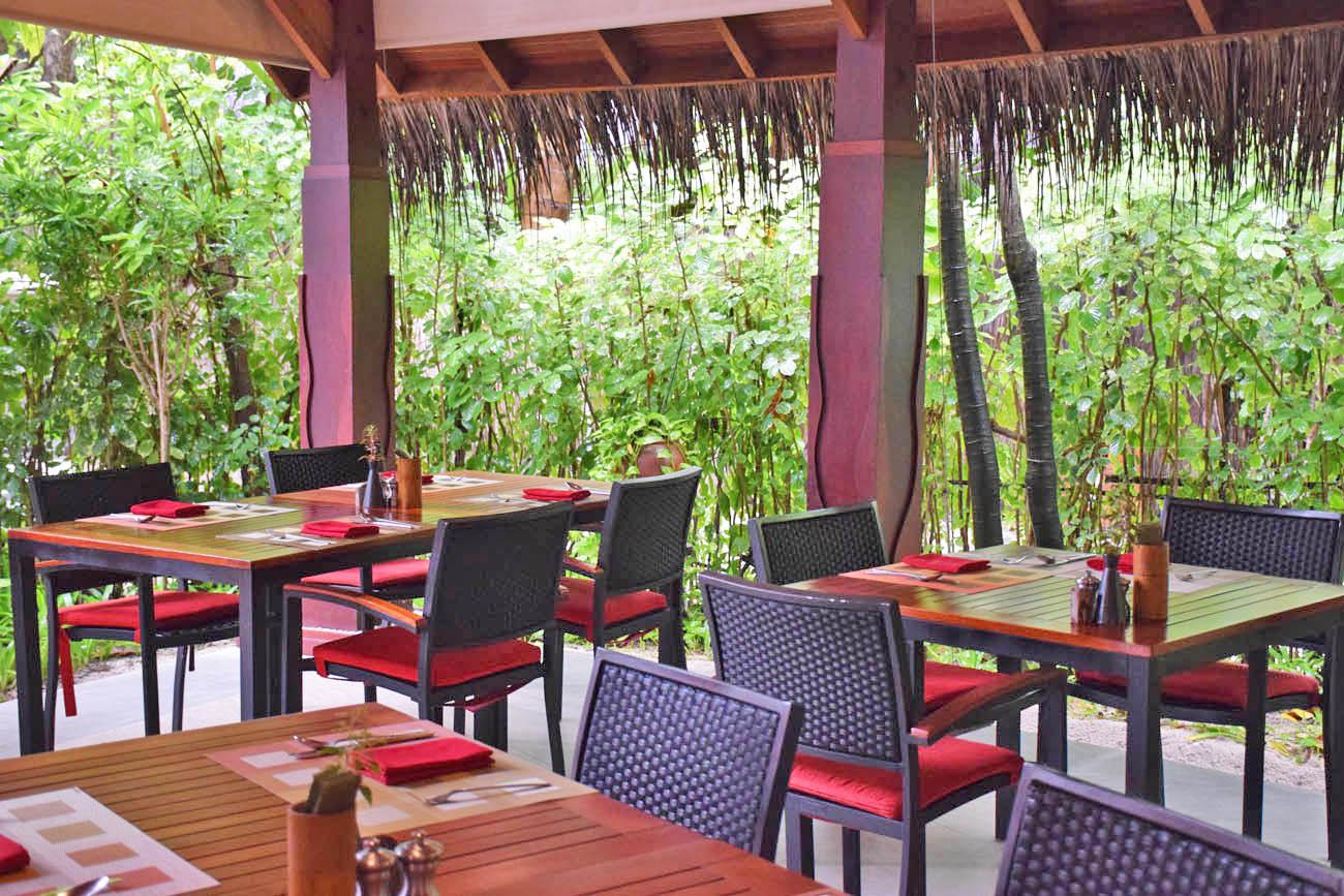 Anantara Dhigu Maldivas - buffet café da manhã
