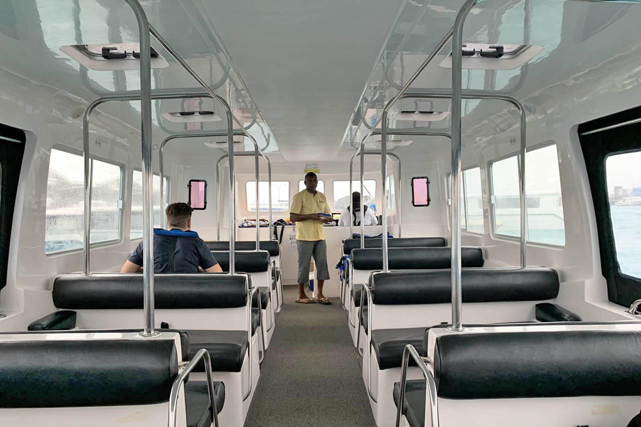Anantara Dhigu Maldivas - speedboat - transfer hotel aeroporto