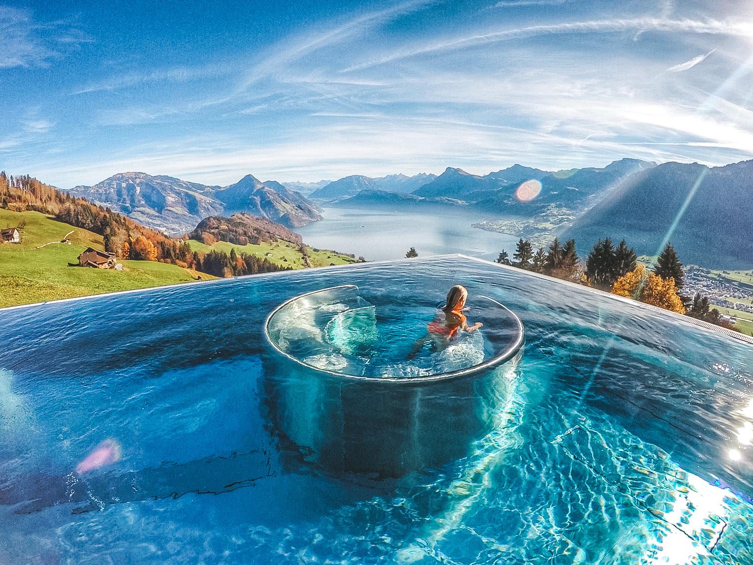 As piscinas mais lindas do mundo - Villa Honegg - Suica - Lala Rebelo