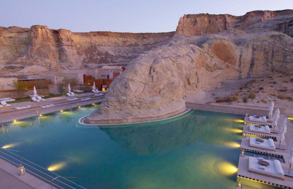 As piscinas mais lindas do mundo - Amangiri - Utah - EUA