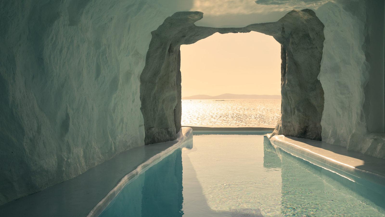 cave pool suite cavo tagoo mykonos