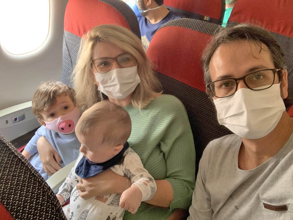 viagem de avião com bebê