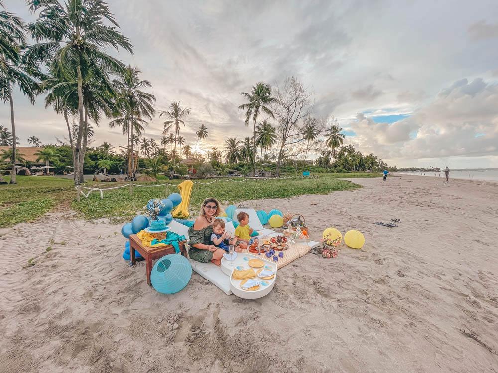 pousada anttunina - piquenique na praia