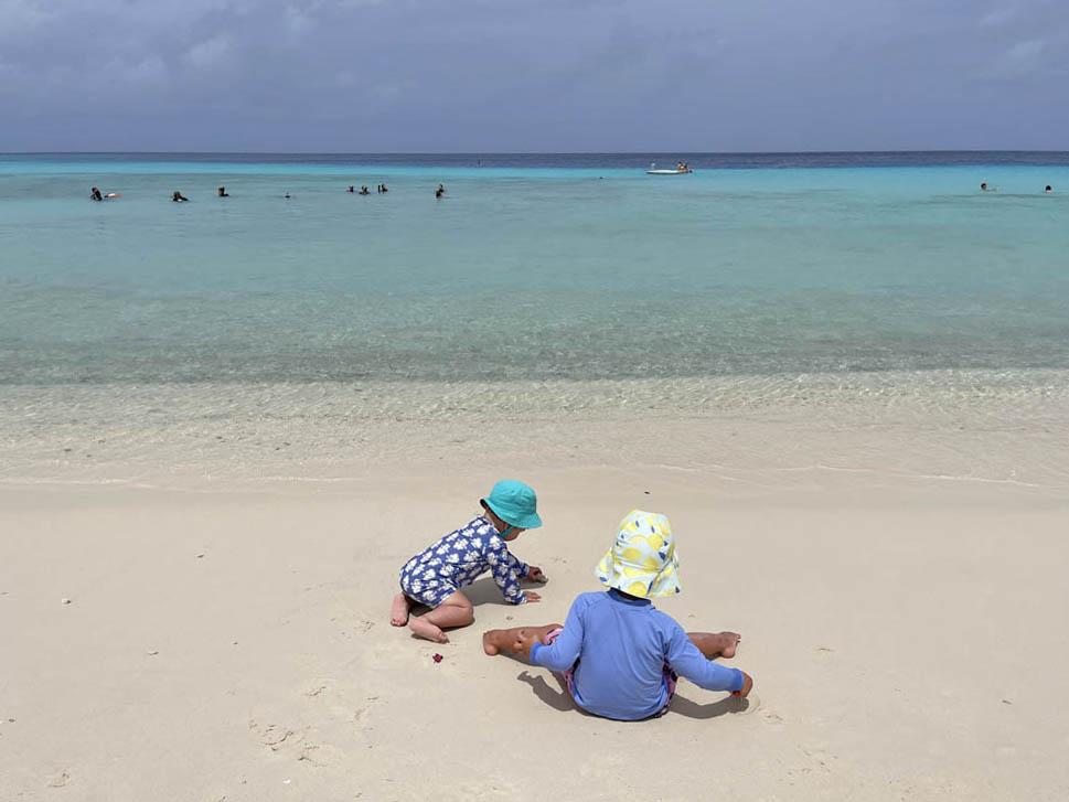 Curaçao com crianças pequenas