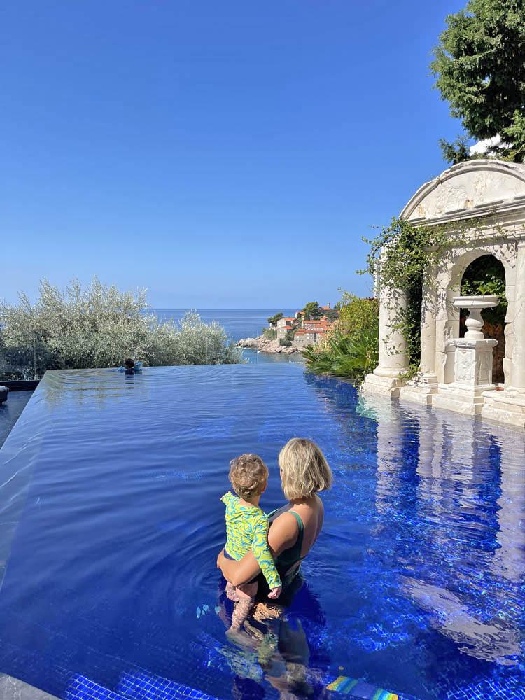 Villa Geba Sveti Stefan Montenegro - piscina principal